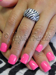 Gel polish in pink