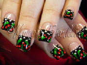 Mary Engelbreit cherry nail art