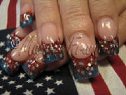 rockstar nails for 4th of july