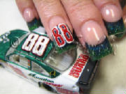 rockstar nails with nascar logo