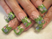 easter nail art with fimo