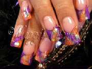 purple and orange rockstar nails