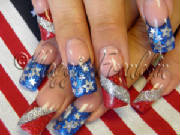 4th of july rockstar nails