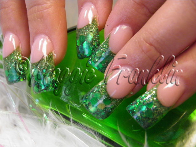 St. Patrick's Day rockstar nails
