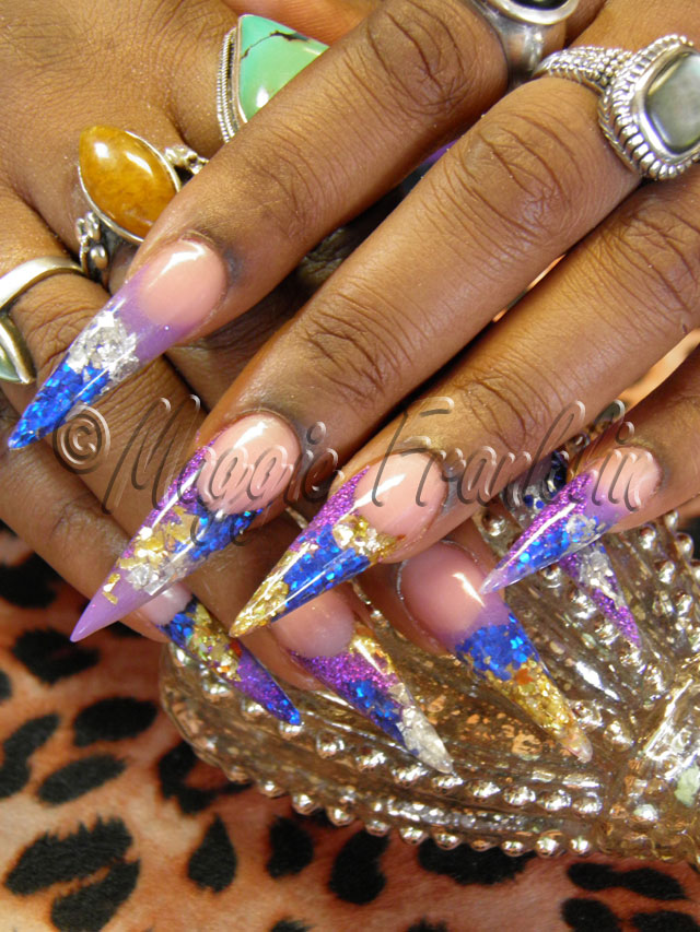 rockstar stilettos nails